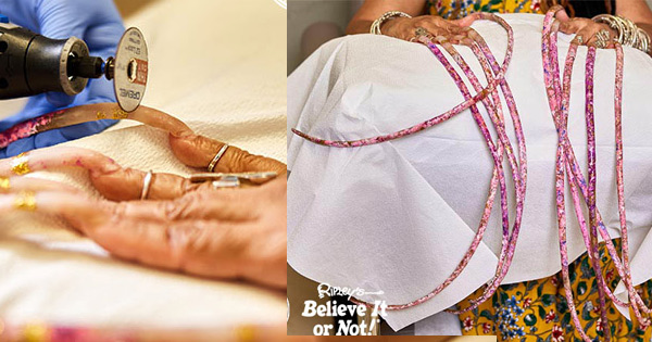 Woman With Worlds Longest Nails Has Them Cut After Almost 30 Years