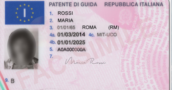 italy driving licence